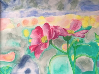 Flowers in Landscape